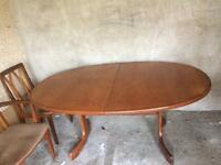 G Plan Fresco table and 8 chairs