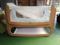 Snuzpod 3in1 bedside cot in natural