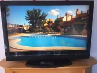 """42"""" Sanyo LCD tv with 3 hdmi's USB remote HD freeview"""