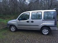 Fiat Doblo, diesel, very low mileage, MOT Nov 2017, wheel chair ramp
