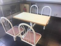 Cafe/restaurant table and chairs