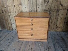 G Plan Form Five 5 drawer base Danish teak era mid 60s mid century modern vintage gplanera