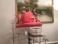 ASCOT /WEDDING HAT LARGE PINK HAT (RRP £300)