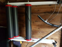 cycle turbo trainer and bike rollers