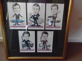 Limited Edition #202 of 500 JAMES BOND 007 CARICATURE'S Professional Framed Picture