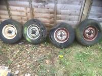 "Mini 10"" wheels with hubs"