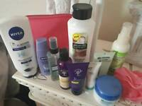 Brand new Nivea pink travel bag and lots of accessories all new