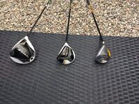 Used Taylor Made RocketBallz Woods , All Graphite Shafts
