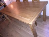 6 x Seater Solid Oak Extending Dining Table