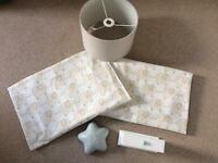 Nursery bundle baby toddler John Lewis blackout curtains, pendant shade