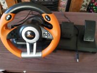 Speedlink Drift O.Z. Racing Wheel for the PC , Gear Shifter, Gas and Brake Pedals