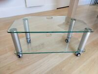 Sturdy glass TV stand
