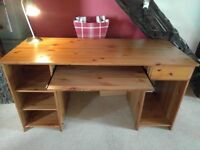 Ikea Matteus solid wood desk table, good condition