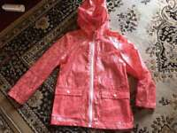 Y.D girls waterproof trench coat jacket 12/13yrs used one time ex condition £4