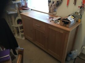 Wood sideboard with draw