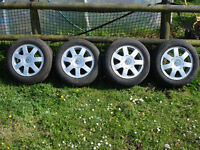 "GENUINE VW AUDI 15"" ALLOY WHEELS GOLF MK 5 6 7 PASSAT SHARAN TOURAN ETC."