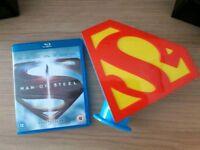 Man Of Steel Blu Ray & Superman Money tin.