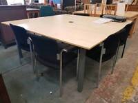 Large boardroom table (180cm wide) with chairs
