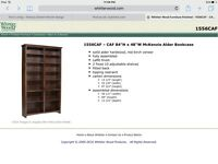 4 IKEA Hemnes bookcases and 3 large custom made bookcases in American alder