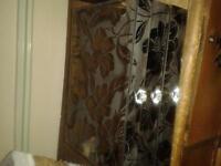 smokey glass etched jewelry box
