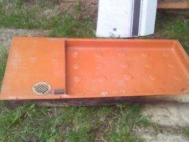 caravan retro type shower tray