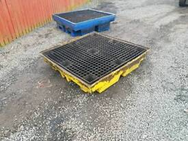 Choice of two 205 litre four drum bunded spillage pallet farm garage tractor
