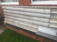 Corrugated metal roof sheeting