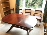 Four chairs and table for sale