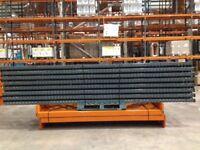 5 bay run of dexion pallet racking 4.6m high ( storage , shelving )