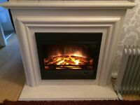 Electric log effect fire & surround