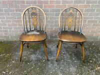 Ercol Fleur De Lys Dining Chairs x 2