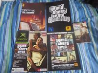 GTA San Andreas official strategy Guide, Sticker Sheet, Xbox Magazine. 100 page guide book + Poster