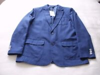 Brand new mens linen blend jacket in midnight blue.