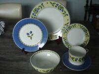 ST. Michael Blackberries 36 Piece fine porcelain Tea Set/ Dinner set