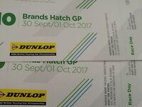 2 tickets Brands Hatch GP 30 September/1 October BTCC £60