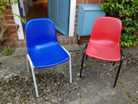 Chairs, ex-school (maybe Consortium Value Affinity), seat height 38cm, suit 8 - 11 year old children