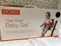 STOKKE High Chair Cushions for Stokke Tripp Trapp with black baby set FOR SALE