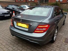 Lady Owned Mercedes C class C200 Amg Sport Blue efficiency automatic Low mileage High spec