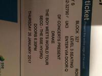 2 drake tickets Glasgow