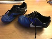 Boys football boots size 10