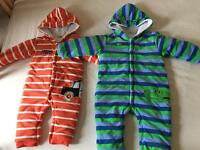 all in one baby winter bodysuit size 1 year old and size 2 years old