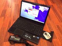 """SONY VAIO 15"""" LAPTOP. 320GB HDD-3GB RAM-(INTEL i3 2nd GENERATION) WEBCAM-HDMI-WNS 7-MICROSOFT OFFICE"""