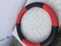Brand New Red & Black Steering Wheel