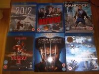 24 Blu-ray discs and around 62dvd's. A fantastic job lot.