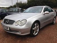 2002 MERCEDES CLK 320 ONLY 68,000 MILES! 1 YEAR MOT! IMMACULATE CONDITION!!