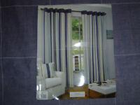 Curtains,padstow,lnd eyelet,blue45336.229cm.183cm.