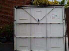 Single Garage Door complete with frame ready to fit