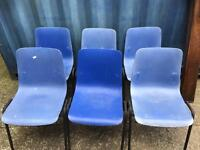 CLEARANCE 6 plastic stacking chairs FREE DELIVERY PLYMOUTH AREA