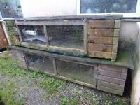 Large Rabbit Breeder Hutches (needs repair)
