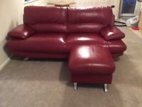 Red faux leather Sofa